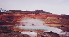 hot spring, Iceland (kruupfi) Tags: red hot nature island volcano iceland spring colours earth hotspring volcanic geysir selfoss