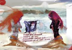 Estrangement de l'estran de la tristesse (lewshima) Tags: vent soleil eau seins femme sable souffle pieds mains peau doigts cume cheveux ongles cuivre mduse sourcils cils me cuisses