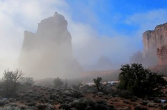 Arches Fog in November (sdowens19631) Tags: southwest fog utah archesnationalpark