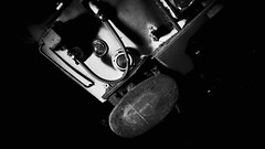 Bigfoot (newshot.) Tags: detail abandoned lines composition dark grit scotland rust industrial shadows sony grain shapes railway textures blacks emu gloom grime tilt jumpers buffer boness redundant diagonals bluetrain srps railwaycarriage markerlights xperiaz5 compositionalplacement