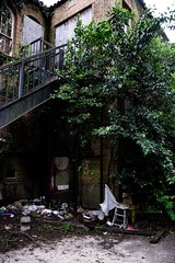 Forgotten Area (jessicachlee) Tags: old building living board homeless staircase forgotten rundown