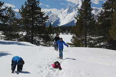 Snowshoeing without snowshoes (Aggiewelshes) Tags: travel winter snow lisa april wyoming olsen jacksonhole colterbay jovie grandtetonnationalpark 2016 gtnp