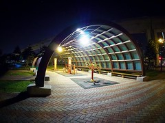2016-01-09 20.51.08 (pang yu liu) Tags: park night pond jan fisheye 01 f8 桃園 taoyuan 9mm 2016 中壢 bodycap 一月 zhongli 青埔 青塘園