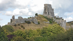 Corfe castle Dorset England (David Russell UK) Tags: england castle monument coast fort dorset walls fortification corfe jurassic
