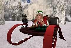 Happiness is a Great Friend and Snow (Kylie Quinn) Tags: winter friends snow secondlife sled virtualworld