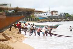 Two weeks in Sri Lanka - Galle (Suse Wilson) Tags: travel sea beach outdoors boat fisherman workers sand asia village waters srilanka ceylon lk galle fishermanmarket