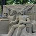 Prinsjesdag sand sculpture