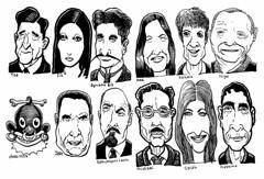 Earthlings (Don Moyer) Tags: lenin moleskine face ink notebook grid faces drawing moyer brushpen donmoyer