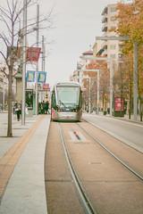 Tranva (Juanedc) Tags: street city calle spain transport tram ciudad zaragoza rails aragon saragossa transporte tranvia tramcar vias auttum plazaaragon espaa otoo