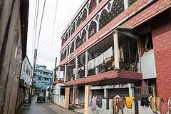 H503_2764 (bandashing) Tags: street homes england manchester ride hijab passengers housing driver rickshaw niqab narrow sylhet bangladesh mullah socialdocumentary gully burkah aoa gullies bandashing akhtarowaisahmed