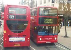 Metroline TEH1240 on route 139 Oxford street 03/02/16. (Ledlon89) Tags: bus london buses transport londonbus tfl londonbuses centrallondon