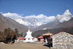 A great view of the Everest region (AnaMaria_au) Tags: nepal trekking himalayas amadablam mteverest tengboche chukhung