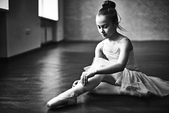 Before performance (tigercop2k3) Tags: portrait ballet cute girl person one costume education ballerina pretty artist child little stage traditional dancer classical youthful performer seated adolescent tutu caucasian attire russianfederation