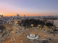 Anochecer en Madrid - Sunset in Madrid (fmariamartin) Tags: madrid espaa noche spain hdr cibeles anochecer nightfall alcal