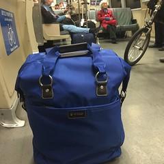 Biaggi Wheeled Tote (Nancy D. Brown) Tags: bart luggage carryon biaggi travelgear