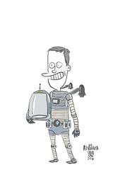 astronauta (Saulo Cruz) Tags: nerd digital sketch cartoon astronaut bamboo draw sketches wacom spacesuit desenho cosmonaut lineart spaceboy astronauta cosmonauta trajeespacial roupaespacial
