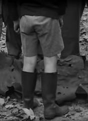What a souvenir (theirhistory) Tags: england boys grass metal kids children boots rubber german shorts wellies shrapnel