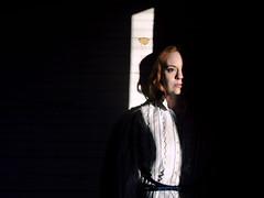 In the Shadows (Jenni Kilburn) Tags: light shadow photography dramatic creepy redhead hiding oldtime