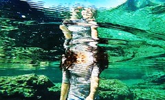 Underwater II (Alexandr Tikki) Tags: travel sea summer selfportrait green art water girl beauty wow amazing underwater awesome great creative cyprus elena incredible selfie leveltravel