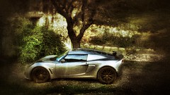 My Lotus Exige S outside my friends home, Mas Janeil near Estagel {explored} (hethelred) Tags: sports car lotus outdoor automotive exotic titanium exige explored