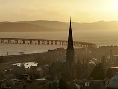 Dundee and the Tay rail bridge. (eric robb niven) Tags: landscape scotland rivertay dundee tay railbridge ericrobbniven