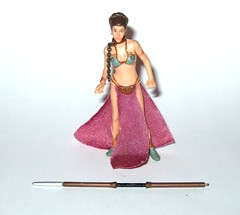 princess leia jabba the hutts slave from princess leia with sail barge cannon star wars power of the jedi deluxe action figures return of the jedi 2001 hasbro figure with unknown weapon part a (tjparkside) Tags: 2001 star outfit force power with princess action deluxe guard part weapon return figure jedi cannon unknown axe sail jabba missile wars pike skiff figures barge missiles leia firing slave hasbro hutt organa rotj jabbas vibro vibroaxe potj