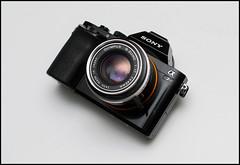 Olympus 42mm f1.7 on Sony A7 (Lens Bubbles) Tags: lens diy conversion rangefinder olympus f17 42mm sp35