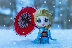 Kimono Elsa (novavistaphotography) Tags: winter snow toy 50mm frozen nikon naturallight disney figure kimono figures elsa japanesetoy nikond3200 toyphotography bfigure jfigure pvcfigure nendoroid figurephotography nendoroidphotography queenelsa disneyfrozen
