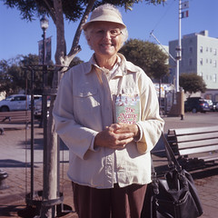 (patrickjoust) Tags: california county ca woman usa color 120 6x6 tlr film smile analog america lens us reflex humboldt focus fuji mechanical united north patrick twin slide christian chrome friendly medium format states manual northern expired joust e6 eureka discontinued estados reversal unidos fujichromeastia100f autaut patrickjoust lipcarollopautomatic28 thenamebook