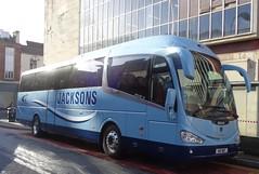 H10BBY Jacksons of Blackpool on Corporation Street in Blackpool (j.a.sanderson) Tags: coach blackpool coaches jacksons scania irizar i6 h10bby