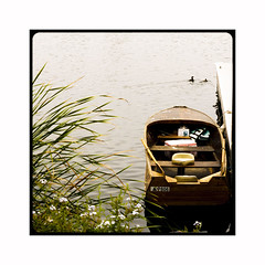 It Was a Calm Day (AnotherCalifornia) Tags: lake landscape boat peaceful calm woodenboat tranquil