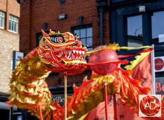 Dragon dance (alun.disley@ntlworld.com) Tags: art liverpool colours streetperformers culture chinesenewyear celebrations puppeteers liverpoolchinatown