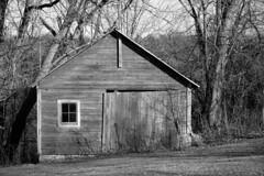 DSC02826.omi.bw (nordamerica1) Tags: road trip blackandwhite bw white black abandoned wisconsin barn rural landscape countryside town blackwhite farm country shed roadtrip february wi 2016