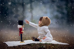 Winter Baby (Ashlyn Mae Photography) Tags: winter light baby snow photography child natural overlay nutcracker 500px ifttt