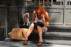 Cada perro se parece a... (Cazador de imágenes) Tags: madrid street summer españa woman dog pet girl female bag donna mujer spain chica candid centro streetphotography perro verano streetphoto 12 bolsa redhair espagne mascota perrito pelirroja spanien bolso spagna spanje 2012 ragazza spania 西班牙 spange madridcitymola httpswwwflickrcomgroupsmadridcitymola