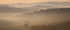 . (_Alexei) Tags: morning autumn light italy mist green fall fog landscape haze ray hills tuscany crete toscana senesi