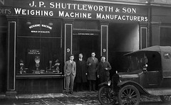 J P Shuttleworth & Son (Dundee City Archives) Tags: old olddundeephotos dundee photos northlindsaystreet jpshuttleworthson weighing machine manufacturer industry shop shopfront 1920s van