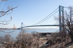Verrazano-Narrows Bridge (Erin Cadigan Photography) Tags: auto road city nyc newyorkcity bridge newyork tower horizontal architecture brooklyn river outdoors bay harbor daylight traffic suspension steel bluesky cable double structure deck transportation transit toll vehicle mta borough daytime hudson statenisland span narrows roadway verrazano verrazanonarrows fortwadsworth batteryweed