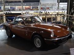 1973 Triumph Spitfire (harry_nl) Tags: museum belgium belgique belgi bruxelles triumph spitfire brussel autoworld 2015
