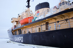 Sampo from the sea's surface (Curt) Tags: winter finland icebreaker sampo kemi