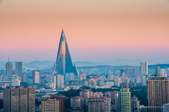 Sunrise in the Capital of Pyongyang City (reubenteo) Tags: city democracy scenery war communist communism kimjongil socialist metropolis socialism northkorea pyongyang dprk reunification kimilsung kimjongun