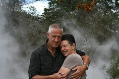 Mom and Dad at Rotorua