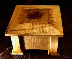 """Wooden Box"" (canaltowntraveler) Tags: wood maple box handmade mapleleaf woodenbox curlymaple jimmitchell canaltowntraveler picmonkey"