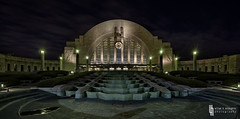 Union Terminal Nocturne (billmclaugh) Tags: ohio museum photoshop canon cincinnati amtrak adobe artdeco rotunda hdr highdynamicrange lightroom railroadstation tiltshift on1 photomatix cincinnatimuseumcenter cincinnatiunionterminal tse17mmf4l 5dmiii ef2470mmf28liiusm cincinnatiheritageprogramstour unionterminalphotoshoot