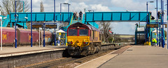 DB Class 66/0 no 66204 passes through Barnetby light engine on 24-03-2015 (kevaruka) Tags: road uk railroad england sun colour history sunshine station composition digital train canon eos march is flickr day colours box britain outdoor south yorkshire united great transport rail railway kingdom sunny trains front db historic lincolnshire full signals telephoto page frame gb vehicle mk2 5d british locomotive network past signal 70200 f28 semaphore humber dbs schenker mk3 freightliner 2015 railfreight barnetby 66204 60001 5d3 5diii 24032015 thephotographyblog