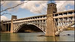 Britannia Bridge. (peterdouglas1) Tags: bridges menaistraits britanniabridge 57305 57312 directrailservices northernbelle class57s