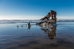 2016-01-10 - Peter Iredale Shipwreck-34 (www.bazpics.com) Tags: ocean sea usa beach water oregon america skeleton sand ship pacific or wave peter shipwreck frame hull wreck iredale