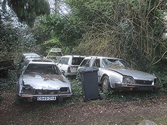 Citroen CX Collection. (RUSTDREAMER.) Tags: rustdreamer scrap derelict parked citroen cx bristol