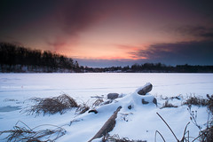 Heart Lake (Ernie Kwong Photography) Tags: longexposure sunset lake snow ontario canada ice nature frozen nikon le heartlake fireandice caledon singhray leefilters heartlakeconservation reversegnd littlestopper