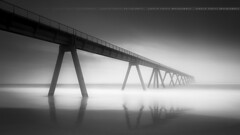 Long Exposure and B&W .... Le Wharf (Yannick Lefevre) Tags: longexposure bw seascape france beach landscape nikon europe raw nef tripod nb wharf paysage plage minimalist manfrotto nisi aquitaine pyrénéesatlantiques poselongue leefilters d700 fstopper 06gndsoft nikkor1635mmf4 09gndsoft photoshopcc lightroomcc